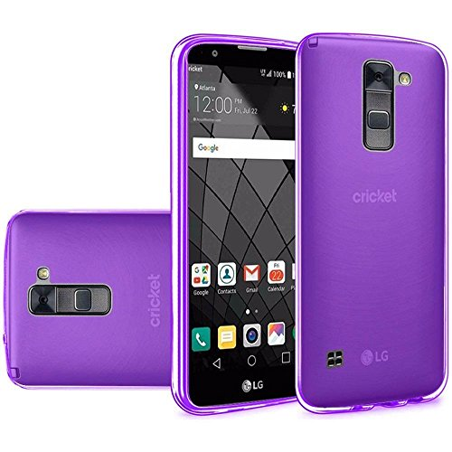 [Purple] LG Stylo 2 Plus Case, CRYSTAL Transparent Frosted Gel [TPU CANDY] Cover [SLIM] Bumper for LG Stylo 2 Plus (Lg Plus compare prices)