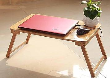 BBSLT Moda portatile scrivania, comodino, tavolo pieghevole di pigrone, semplice tavolino libro , A