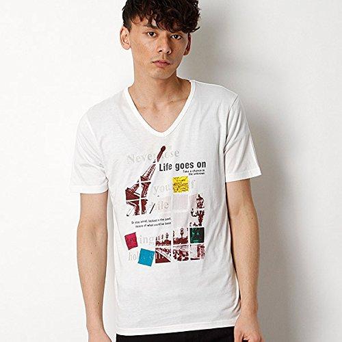 MKオム(MK homme) プリントTシャツ【95ゴールド/48/L】