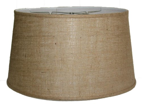 A Ray Of Light 182112BUR 18-Inch by 21-Inch by 12-Inch Brown Burlap Drum Shade