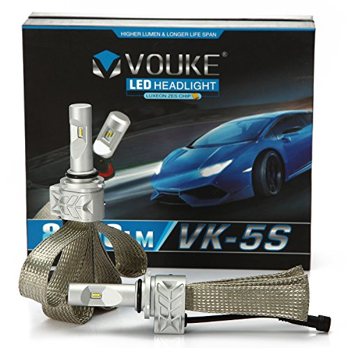 VK-5S 9006 8000LM LED Headlight Conversion Kit, Low beam headlamp, Fog Driving Light, HID or Halogen Head light Replacement, 6500K Xenon White, 1 Pair (Toyota Corolla 2003 Headlamp compare prices)