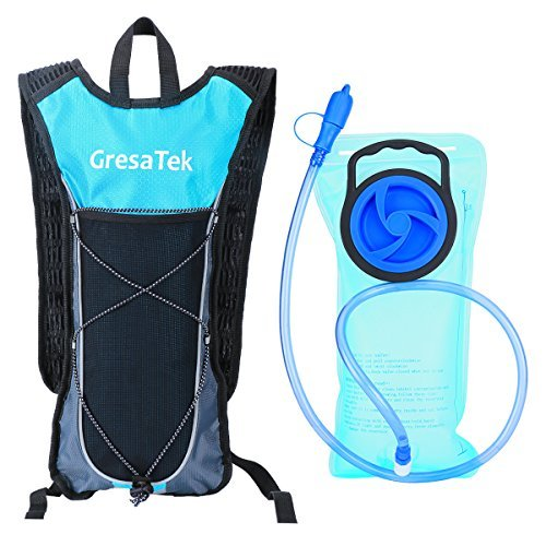 GRESATEK Hydration Pack Backpack with 2L/70oz Water Bladder UltraLight Rucksack Bladder Bag for Walking Cycling Hiking Camping Skiing FREE Reflective Bands for YOUR SAFETY (Sports Oasis 1200 compare prices)