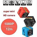 SQ11 Mini Camera 1080P Sport DV Mini Infrared Night Vision Monitor Concealed small Camera SQ 11 small camera DV Video Recorder (red) (Color: Red)