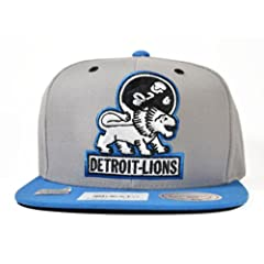 Detroit Lions GREY 2Tone ARCH TURNOVER VELCRO STRAPBACK Mitchell & Ness... by Mitchell & Ness