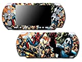 Avengers Hulk Spider-Man Captain America Iron Thor Thanos Video Game Vinyl Decal Skin Sticker Cover for Sony PSP Playstation Portable Slim 3000 Series System