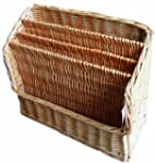 WICKER MAGAZINE NEWSPAPER RACK STORAGE