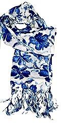 ST-Fashion Women Silk STOLE (STFPTPV03_Royal Blue_Royal Blue_35)