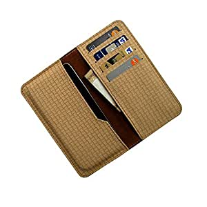 i-KitPit : PU Leather Wallet Flip Pouch Case For Intex Aqua HD (BEIGE)