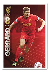 Liverpool Fc Steven Gerrard Season 1213 Poster Magnetic Notice Board White Framed - 965 X 66 Cms Approx 38 X 26 Inches by iPosters