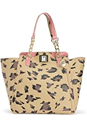 Juicy Couture Wild Thing Leather Large Wing Tote - Natural Leopard