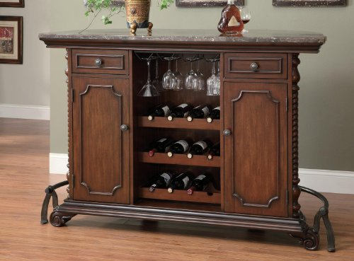Bar Unit In Warm Brown Cherry Finish By Coaster front-202288