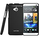 SUPCASE Premium Ultra Slim Fit TPU Case for HTC One M7 Smartphone (Black, Free Screen Protector Included)