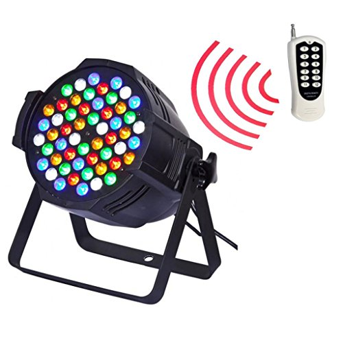 Yiscor Stage Lighting Led Par Light Wireless Control 3Wx54 Rgbw Dmx512 For Dj Home Garden Party Wedding Effect (Pack Of 1)
