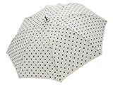 軽くて、小さくて、大きい雨傘 婦人用 裾パイピングドット柄ショートワイド オフ 446