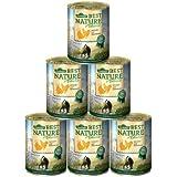 Dehner Best Nature Katzenfutter Adult Geflügel und Leber, 6 x 400 g (2.4 kg)