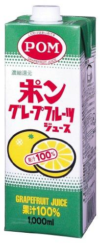 POM グレープフルーツジュース100% 1000ml×6本
