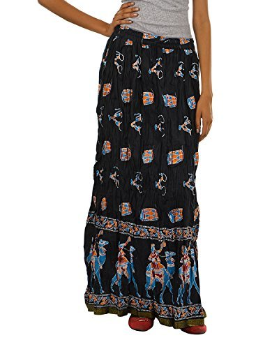 Fashiana Women Rajasthani Treditional Printed Long Cotton skirt  available at amazon for Rs.299