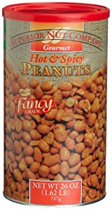 Superior Nut Fancy Hot Spicy Peanuts 26-ounce Canisters Pack Of 6 from Superior Nut