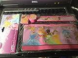 Princess 4pc Stationery Set -Pencil Pouch, Ruler, Pencil Sharpener & Eraser