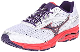 Mizuno Women\'s Wave Legend 3 Running Shoe, White/Purple, 9 B US