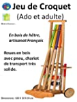 Jeu de croquet en bois ado et adulte,...