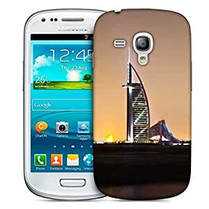 Snoogg Night View At Dubai Printed Protective Phone Back Case Cover For Samsung S3 Mini / S III Mini