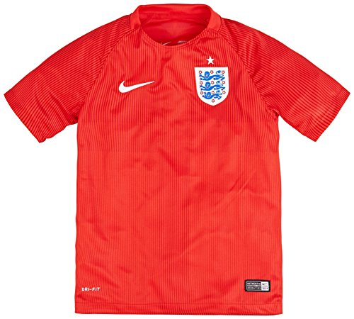 Nike England 2014 Away Stadium Junior Soccer Shirt, Red, Age 12-13/L back-387363