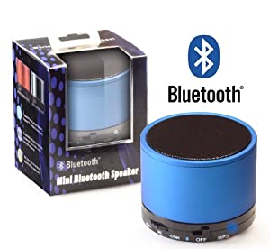 Bluetooth Wireless Mini Speaker Blue for Phones, Tablets, Mp3 Players