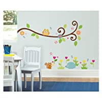 ROOMMATES RMK1861SCS Happi Scroll Branch Peel and Stick Wall Decals by ROOMMATES