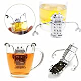 JEWSUN Robot and Rocket Tea Infuser and Drip Tray(Set Of 2)