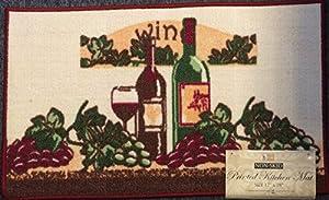 Wine grape theme design kitchen rug mat 17 x 28 kitchen dining - Grape design kitchen rugs ...