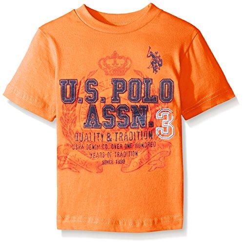 U S Polo Assn Boys 39 Crew Neck Iconic Graphic Logo T