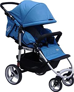 Tike Tech Single City X4 Swivel Stroller, Pacific Blue