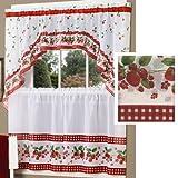 Strawberry Vine Kitchen Curtain Set By Achim