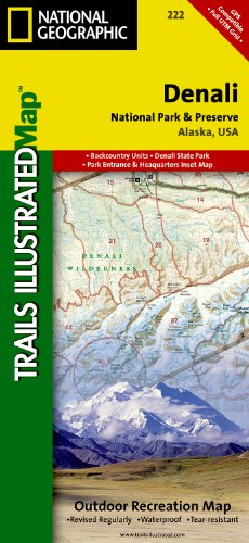 Denali National Park and Preserve (Trails Illustrated Map #222) (Ti - National Parks)