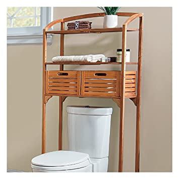 Teak Bathroom Spacesaver with Storage Baskets - Improvements