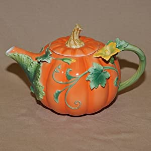 Pumpkin Decorated Teapot from Maryland China Company