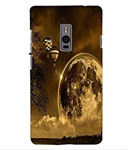 ColourCraft Beautiful Air Baloons Design Back Case Cover for ONEPLUS TWO