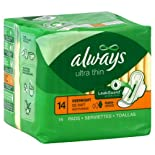 Always Pads, Ultra Thin, Flexi-Wings, Overnight, 14 ct.