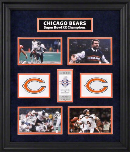 Chicago Bears Framed Ticket Collage   Super Bowl, Limited Edition