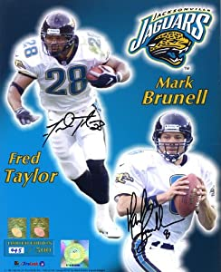 Mark Brunell & Fred Taylor BOTH Signed 8x10 Jacksonville Jaguars Limited Color... by Original Sports Autographs