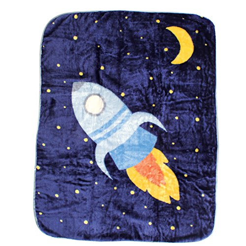 Luvable Friends Character High Pile Blanket, Space Ship - 1