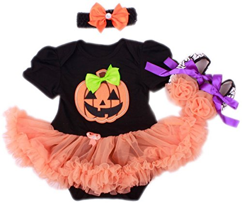 TANZKY® Infant Girls Halloween Costumes Pumpkin Santa Dress