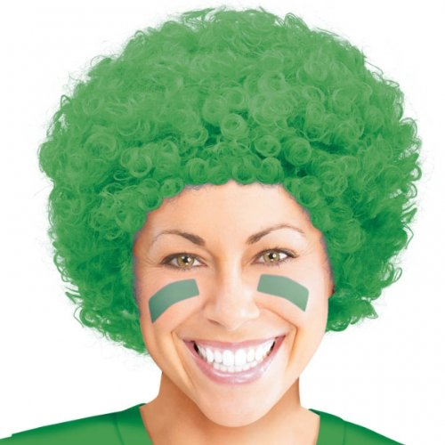 Green Curly Wigs