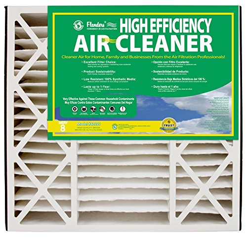 NaturalAire High Efficiency Air Filter, MERV 8, 20 x 25 x 5-Inch, 2-Pack (Flanders Filters 20x25x5 compare prices)