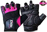 Womens Weighlifting Gloves plus FREE Padded Figure 8 Lifting Straps for Powerlifting-Gym-Crossfit-Weight Training-Biking-Cycling-Best for Comfort-Grip and Callus Protection-Washable-*FREE* Fox Fierce Fitness Workout for Women Ebook