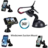 Practical Style Smart Universal Mobile Phone PDA In Car Windscreen Suction Mount Holder Cradle Stand for iPhone 5 5S 5C 4 2 3 3G 3Gs 4 4S Samsung S5 S4 S3 Note 3 2 I9100 S5830 Htc NEXUS 7 all smart phones and GPS devices up to 100mm screens by G4GADGET®