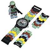 LEGO Kids' 9003363 Star Wars Boba Fett Watch with Link Bracelet and Figurine