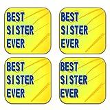 MeSleep Best Sister Wooden Coaster-Set Of 4