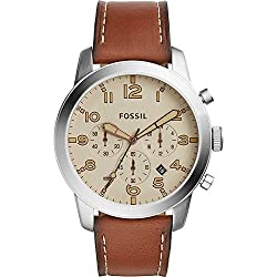 Fossil Pilot 54 Chronograph Leather Watch by Fossil